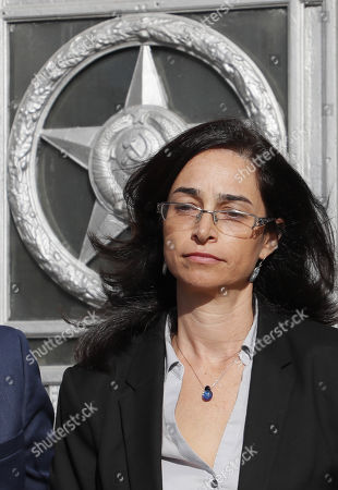 Israeli deputy ambassador Keren Cohen Gat leaves Russian Foreign Ministry office in Moscow, Russia, 18 September 2018. The Israeli ambassador was invited to visit Russian Foreign Ministry to explain the alleged Israeli air strike last night near Russian military base in Latakia in Syria and to get an official reaction on downed military plane, an Ilyushin Il-20, with 15 crew members on board. The Russian planed was downed by mistake by Syrian anti aicraft defense during an alleged attack by the Israeli air force on Syrian targets near the Russian air base Khmeymim.