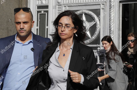 Israeli deputy ambassador Keren Cohen Gat (C) leaves the Russian Foreign Ministry office in Moscow, Russia, 18 September 2018. The Israeli ambassador was invited to visit Russian Foreign Ministry to explain the alleged Israeli air strike last night near Russian military base in Latakia in Syria and to get an official reaction on downed military plane, an Ilyushin Il-20, with 15 crew members on board. The Russian planed was downed by mistake by Syrian anti aicraft defense during an alleged attack by the Israeli air force on Syrian targets near the Russian air base Khmeymim.
