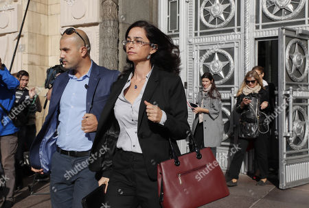 Israeli deputy ambassador Keren Cohen Gat (R) leaves the Russian Foreign Ministry office in Moscow, Russia, 18 September 2018. The Israeli ambassador was invited to visit Russian Foreign Ministry to explain the alleged Israeli air strike last night near Russian military base in Latakia in Syria and to get an official reaction on downed military plane, an Ilyushin Il-20, with 15 crew members on board. The Russian planed was downed by mistake by Syrian anti aicraft defense during an alleged attack by the Israeli air force on Syrian targets near the Russian air base Khmeymim.
