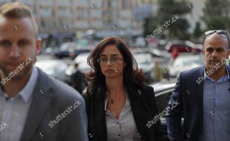 Stock Picture of Israeli deputy ambassador Keren Cohen Gat (C) arrives at the Russian Foreign Ministry office in Moscow, Russia, 18 September 2018. The Israeli ambassador was invited to visit the Russian Foreign Ministry to explain the alleged Israeli air strike  last night near Russian military base in Latakia in Syria and to get an official reaction on downed military plane, an Ilyushin Il-20, with 15 crew members on board. The Russian planed was downed by mistake by Syrian anti aicraft defense during an alleged attack by the Israeli air force on Syrian targets near the Russian air base Khmeymim.