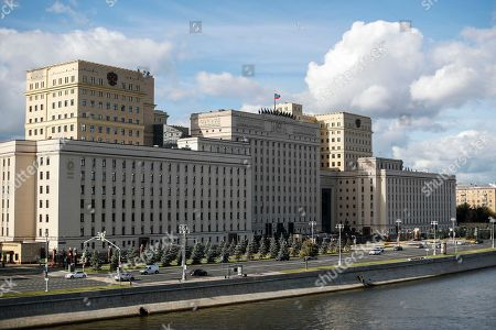 A general view of the National Defense Control Center which is the supreme command and control center of the Russian Ministry of defense and the Russian Armed Forces in Moscow, Russia, 18 September 2018. The Israeli ambassador was invited to visit Russian Foreign Ministry to explain the alleged Israeli air strike last night near Russian military base in Latakia in Syria and to get an official reaction on downed military plane, an Ilyushin Il-20, with 15 crew members on board. The Russian planed was downed by mistake by Syrian anti aicraft defense during an alleged attack by the Israeli air force on Syrian targets near the Russian air base Khmeymim.