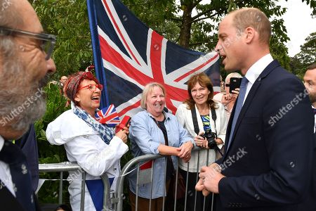 Prince William meets members of the public before unveiling a new sculpture of Major Frank Foley by artist Andy de Comyn. Major Foley was a British Intelligence Officer for the Embassy in Berlin where he bent the rules to allow thousands of Jewish families escape Nazi Germany.