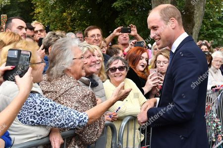 Prince William meets members of the public after unveiling a new sculpture of Major Frank Foley by artist Andy de Comyn. Major Foley was a British Intelligence Officer for the Embassy in Berlin where he bent the rules to allow thousands of Jewish families escape Nazi Germany.