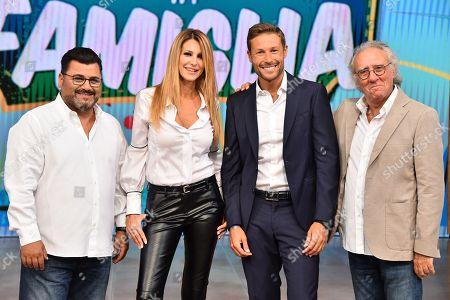 Stock Photo of Sergio Friscia, Adriana Volpe, Massimiliano Ossini, Gianni Mazza