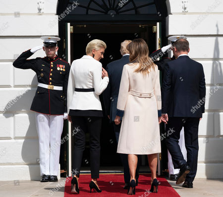 United States President Donald J. Trump and First Lady Melania Trump welcome the President of the Republic of Poland Andrzej Duda and Mrs. Agata Kornhauser-Duda to The White House