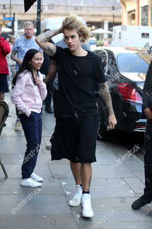 Justin Bieber visits the London Eye