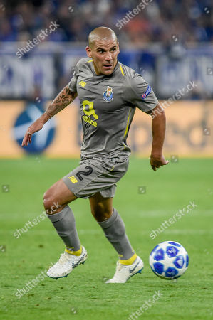 Football : Germany - Champions League 2018/2019  Schalke 04 Vs FC Porto  18/09/2018 - Maxi Pereira (FC Porto)  during the game at the Veltins-Arena,  Gelsenkirchen.