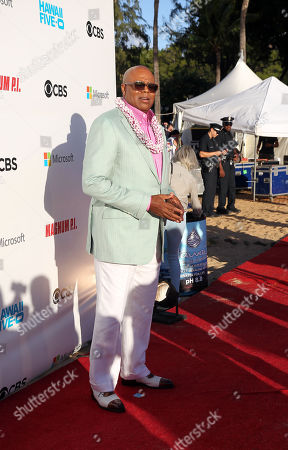 Chi McBride on the red carpet during the Hawaii Five-O and Magnum P.I. Sunset On The Beach event on Waikiki Beach in Honolulu, Hawaii - Michael Sullivan/CSM