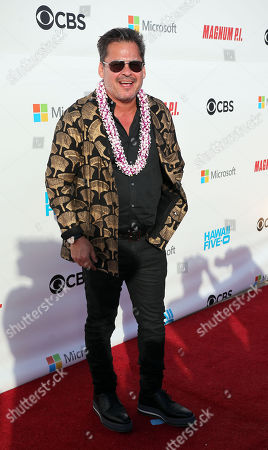Executive Producer Peter M. Lenkov on the red carpet during the Hawaii Five-O and Magnum P.I. Sunset On The Beach event on Waikiki Beach in Honolulu, Hawaii - Michael Sullivan/CSM