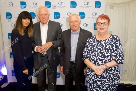 Stock Image of Claudia Winkleman, David Dimbleby, Jonathan Dimbleby and Jo Brand
