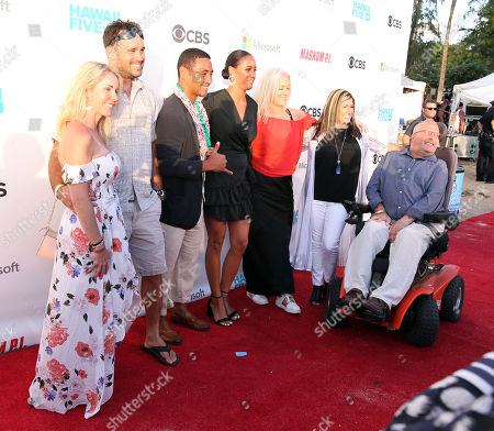 Beulah Koale wanted to share the spotlight with his family on the red carpet during the Hawaii Five-O and Magnum P.I. Sunset On The Beach event on Waikiki Beach in Honolulu, Hawaii - Michael Sullivan/CSM