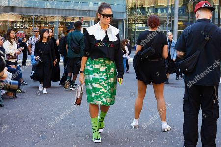Editorial photo of Street Style, Spring Summer 2019, London Fashion Week, UK - 17 Sep 2018
