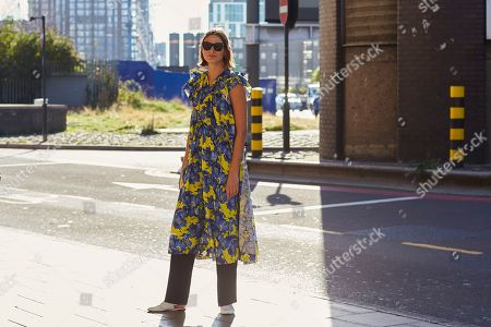 Editorial photo of Street Style, Spring Summer 2019, London Fashion Week, UK - 17 Sep 2018
