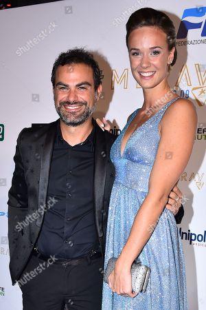Stock Image of Andrea Perroni and Margherita Panziera
