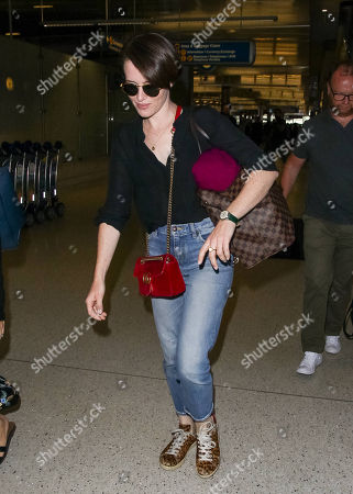 Claire Foy at LAX International Airport, Los Angeles