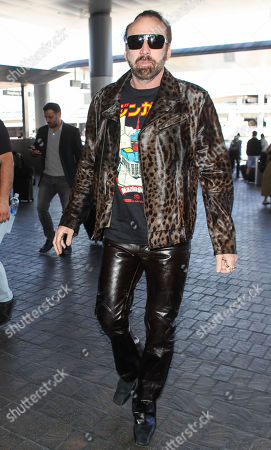 Nicolas Cage at LAX International Airport, Los Angeles