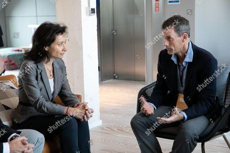 Delphine Geny-Stephann Secretary of State and Jeff Dean DG Google AI