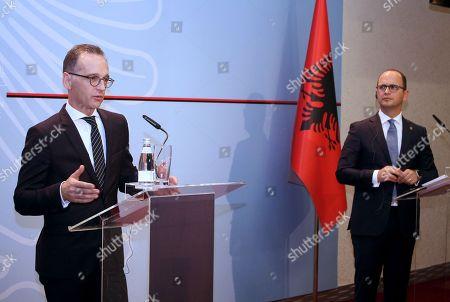 German Foreign Minister Heiko Maas visit to Albania