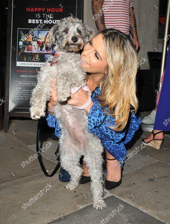 Gemma Oaten with her pet dog
