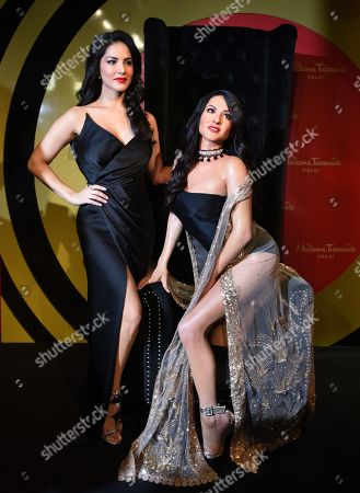 Sunny Leone with her wax figure