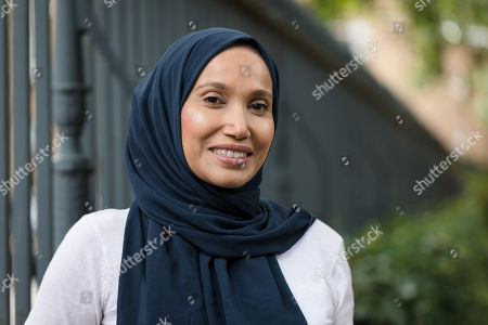 Stock Photo of Writer and politician, Rabina Khan poses for photographs in Wapping, Tower Hamlets the day before announcing that she has joined the Liberal Democrats party.