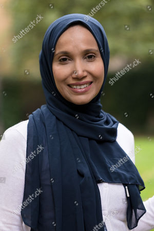 Stock Image of Writer and politician, Rabina Khan poses for photographs in Wapping, Tower Hamlets the day before announcing that she has joined the Liberal Democrats party.