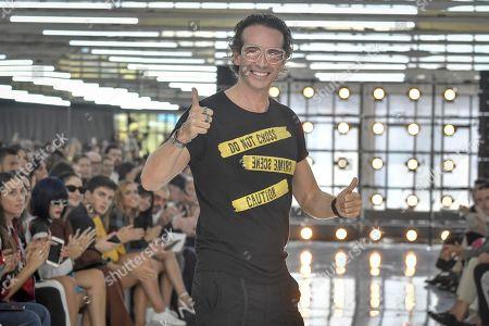 Manuel Facchini on the catwalk