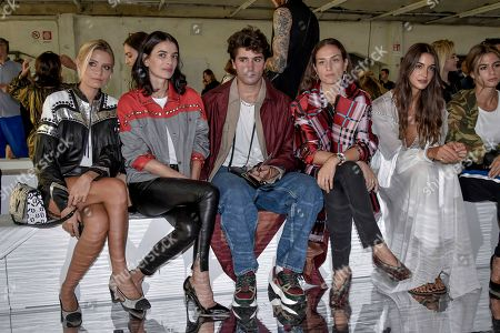Erika Boldrini, Veronica Ferraro, Cristina Marino in the front row