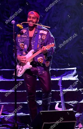 Editorial picture of Twin Shadow in concert at Revolution, Ft Lauderdale, Florida, USA - 18 Sep 2018