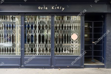 A closed Covent Garden store as Orla Kiely £8 million retail empire collapses. It was reported the company ceased trading earlier this week with immediate job losses and unpaid staff wages.