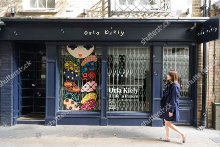 Stock Picture of A closed Covent Garden store as Orla Kiely £8 million retail empire collapses. It was reported the company ceased trading earlier this week with immediate job losses and unpaid staff wages.
