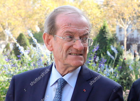 Stock Photo of Former Paris' Police Prefect Michel Gaudin attends a national ceremony to pay tribute to the victims of terrorism, at the Invalides in Paris, France, . French President Emmanuel Macron has pledged to create a Memorial Museum to honor the victims of terrorism
