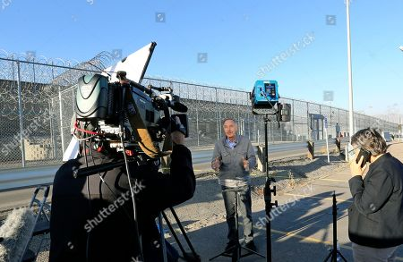 The media gather outside the Utah State Correctional Facility, in Draper, Utah. Wanda Barzee, a woman who helped kidnap Elizabeth Smart when she was a teenager and stood by as the girl was sexually assaulted, was released from prison Wednesday after 15 years in custody