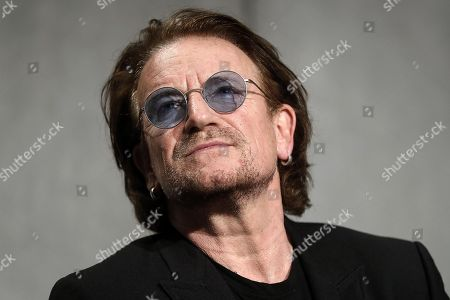 Editorial image of Bono Vox press briefing after the meeting with Pope Francis, Vatican City, Vatican City State (Holy See) - 19 Sep 2018