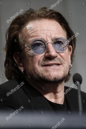 Editorial picture of Bono Vox press briefing after the meeting with Pope Francis, Vatican City, Vatican City State (Holy See) - 19 Sep 2018