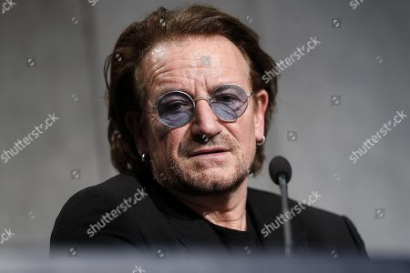 Editorial photo of Bono Vox press briefing after the meeting with Pope Francis, Vatican City, Vatican City State (Holy See) - 19 Sep 2018