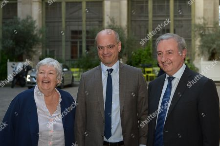 Arrival of Jacqueline Gourault, Jean-Michel Blanquer, Education Minister and Jean-Luc Moudenc, Mayor of Toulouse and President of France urbaine