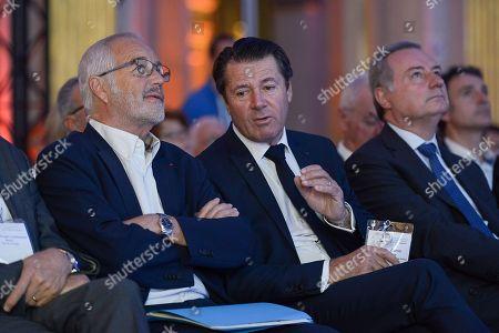 Francois Rebsamen, mayor of Dijon with Christian Estrosi, mayor of Nice