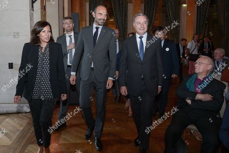 Anne Hidalgo, Mayor of Paris, Edouard Philippe, Prime Minister, Jean-Luc Moudenc, Mayor of Toulouse and President of France urbaine