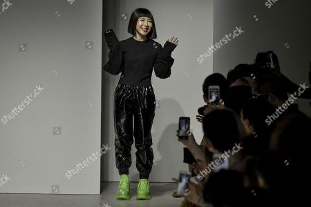 Anna Chang on the catwalk