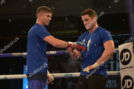 Stock Image of Luke Campbell and Shane McGuigan during a Public Workout