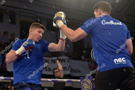 Luke Campbell and Shane McGuigan during a Public Workout