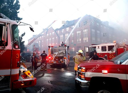 Fire at an apartment building, Washington DC