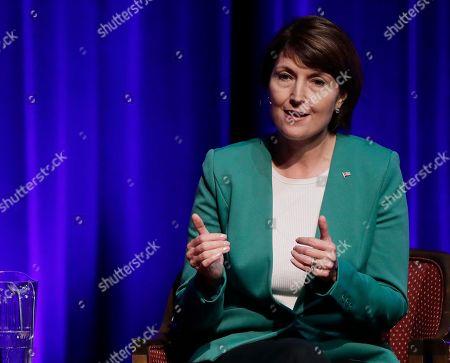U.S. Rep. Cathy McMorris Rodgers, R-Spokane, who is being challenged by Democrat Lisa Brown, speaks during a debate, in Spokane, Wash