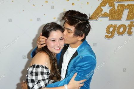 "Shin Lim, Casey Thomas. AGT's winner magician Shin Lim, right, kisses his fiancee Casey Thomas as they arrive at the ""America's Got Talent"" Season 13 Finale Show red carpet at the Dolby Theatre, in Los Angeles"