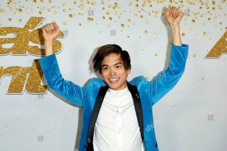 "Magician Shin Lim arrives at the ""America's Got Talent"" Season 13 Finale Show red carpet at the Dolby Theatre, in Los Angeles. Lim was crowned the season 13 champion of ""America's Got Talent"