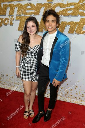 "Shin Lim, Casey Thomas. AGT's winner magician Shin Lim, right, and his fiance Casey Thomas arrive at the ""America's Got Talent"" Season 13 Finale Show red carpet at the Dolby Theatre, in Los Angeles"