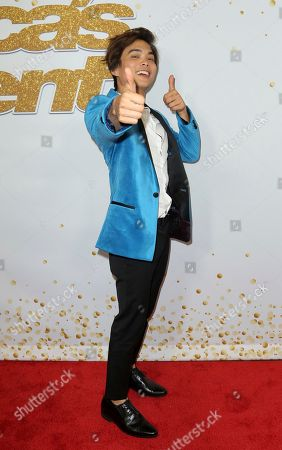 "AGT's winner magician Shin Lim arrives at the ""America's Got Talent"" Season 13 Finale Show red carpet at the Dolby Theatre, in Los Angeles"