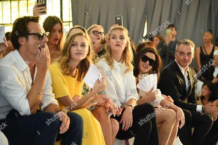 Alessandro Preziosi, Beatrice Borromeo, Eva Riccobono in the front row