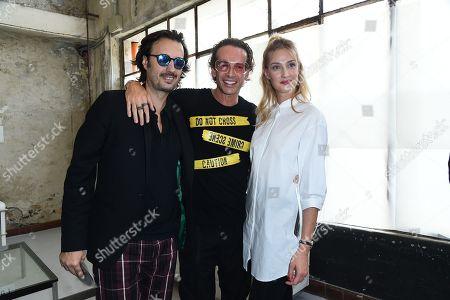 Matteo Ceccarini, Manuel Facchini, Eva Riccobono in the front row